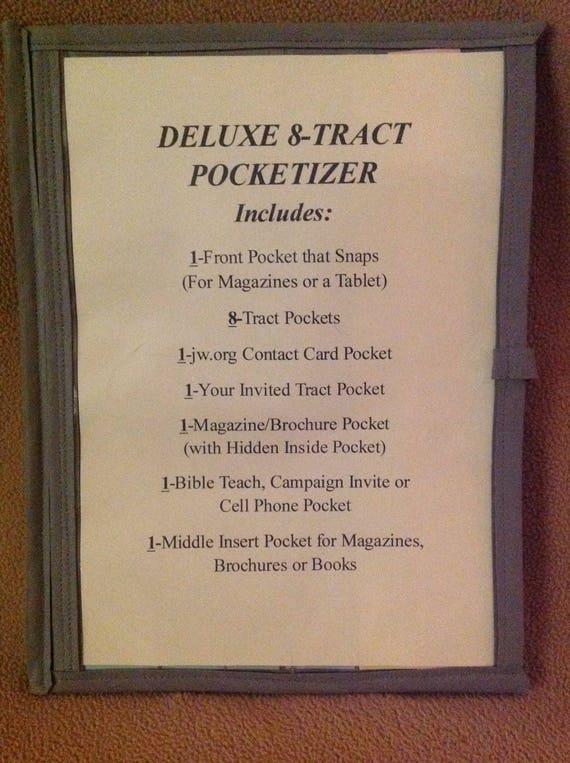 Deluxe 8-Tract Field Service Organizer