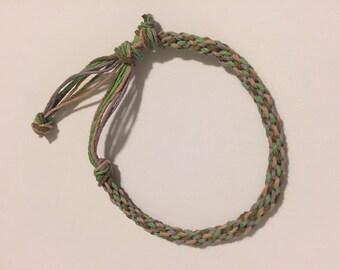 Natural Hemp Kumihimo Bracelet - Vintage