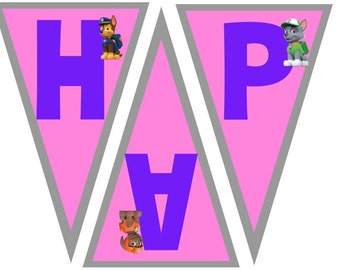 Happy Birthday Paw Patrol Banner