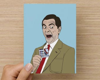 Mr Bean - greeting card - celebration - pop culture - movies - tv - classic - birthday card - all occasion - comedy