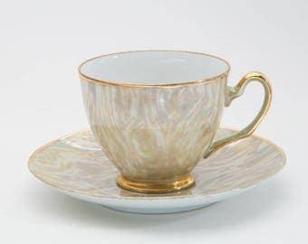Mystical Japanese Jade Cup&Saucer