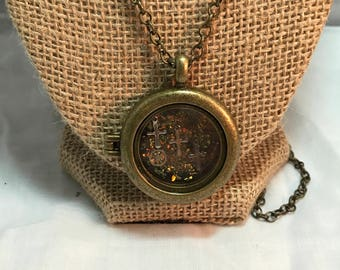 Locket with cross