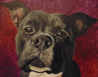 Custom Pet Portrait-  Acrylic, Charcoal, GraphiteCustom Pet Portrait