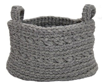 Basket grey medium