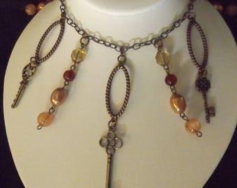 Unique Vintage Key Necklace