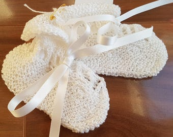 Crochet Booties White