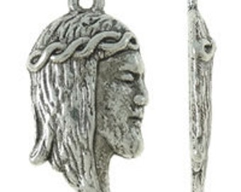 20 10x18mm Tibetan Style Charms, Religious, Spiritual, Jesus - Nickel, Lead and Cadmium Free - SKU 56050 x 2