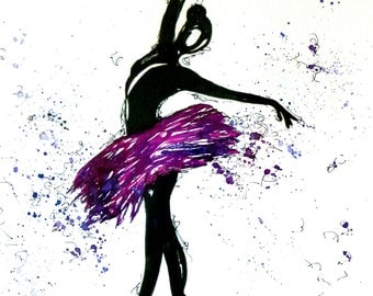 puple dance, art print, print, print