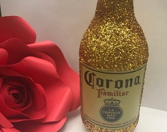Fiesta/Wedding: Centerpieces/Decorations  Glitter Bottle Mexican Beer