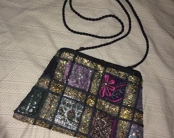 Boho Patchwork Sari Bag