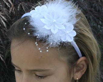 Hair Band, Kanzashi Flower, Girl Headband, Flower Girls, Wedding, Party, Baby Showers, Accessories,