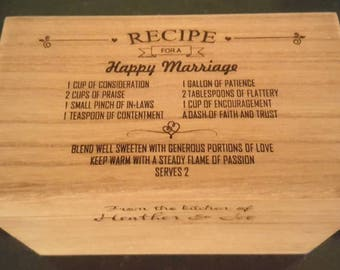 Recipe Box - Engraved Personalized