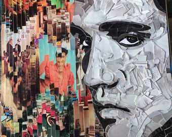 Elvis Collage Print - 11 x 14 matted piece for an 16 x 20 frame