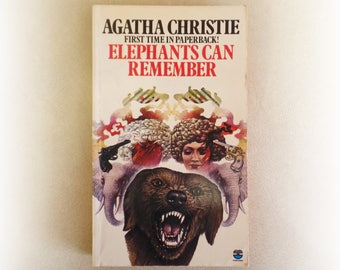 Agatha Christie - Elephants Can Remember - Fontana vintage paperback book - 1975