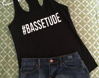 Bassetude, #Bassetude, Basset, Dog, Hound Dog, Racerback Tank, Basset Dog, Basset Tee, Basset Tshirt, Basset top, Basset tank