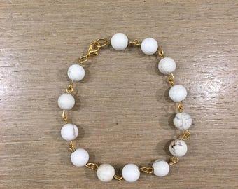 White Turquoise Beaded Bracelet