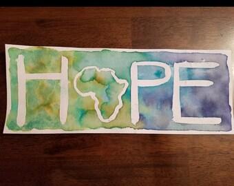HOPE Watercolor 4ishx8ish A4