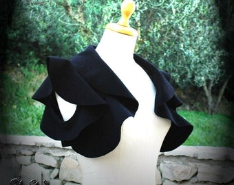 Black Bolero. Black Bolero Jacket. Evening Black Bolero. Woolen Bolero. Drape Bolero. Bridal Bolero Jacket. Wedding Bolero.