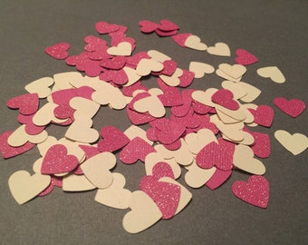 125 piece paper heart confetti.