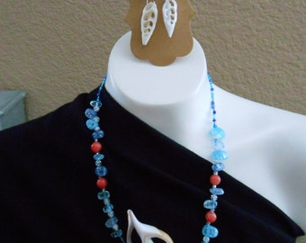 Seashell Necklace and Earrings Set