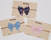 mini sailor bow // hair clip, headband, baby bow, toddler girl