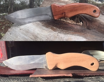 Hand crafted western cedar knife