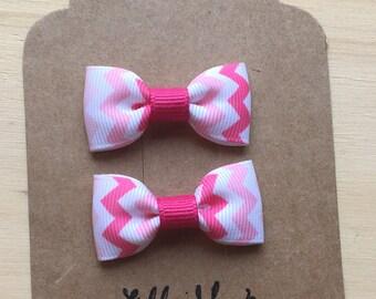 Mini Tuxedo Hair Bows, baby & toddler hair clip, mini bow