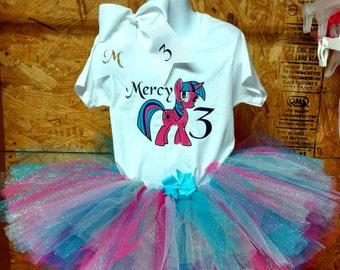 Personalized My Little Pony Birthday Tutu Outfit