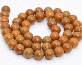 "4MM Brown Picture Jasper Natural Gemstone Full Strand Round Loose Beads 15"" (101152-326)"
