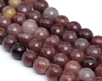 """8MM Faceted Brown Aventurine Natural Gemstone Full Strand Round Loose Beads 15"""" (100887-340)"""