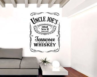 JACK DANIELS' Personalised  Name Vinyl Wall Decal Quote