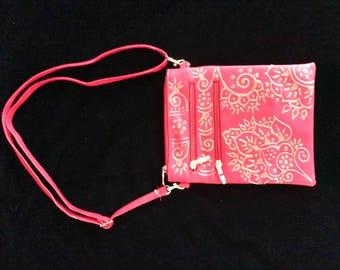 Hand Painted Handbag - Red