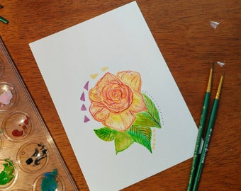 Romantic Rose *Original Artwork*
