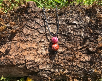 Triple Spiritual Lava Rock Necklace
