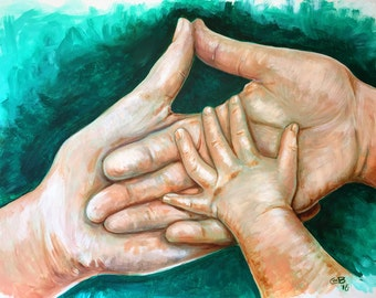 """From a painting Titled """"Support""""- limited edition print"""