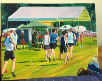 Birnam Highland Games Oil Painting