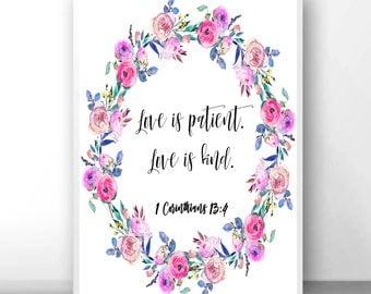 Love is patient sign, 1 Corinthians 13 4, 1 Corinthians sign, love is kind sign, love is patient art, love is patient, love never fails,