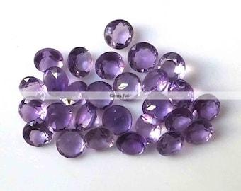 10 pieces 2mm amethyst faceted round gemstone - natural amethyst round faceted loose gemstone - wholesale amethyst - semi precious gemstone