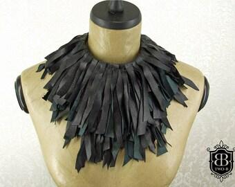 Leather necklace Choker necklace Gothic fetish