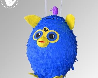 Pinata Furby Birthday Party Game Handmade Blue