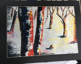 Original Oil- Winter Trees