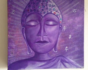 This is a customized acryl painting of buddha