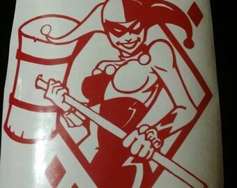 Harley quinn diamond sticker decal