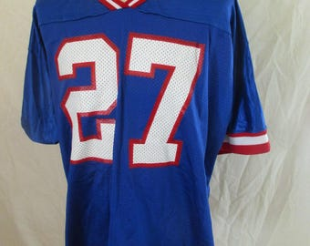 Jersey vintage NFL New York Giants 27 HAMPTON 1990 Blue Size XXL