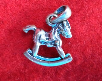 Silver Rocking Horse Charm