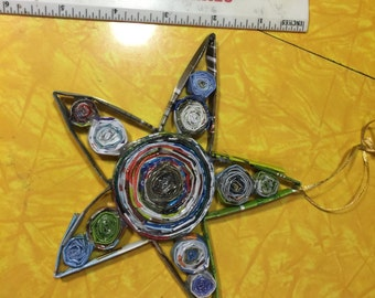 Recycled Magazine Star Ornament