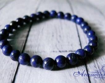 Gemstone bracelet Lapis bracelet Lapis lazuli bracelet Lapis jewelry Blue lapis bracelet Tiny lapis bracelet Healing Properties Bracelet