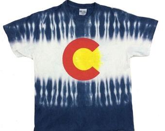 Colorado Flag Tie Dye T-Shirt