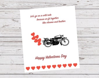 Valentinescard Motorcycle