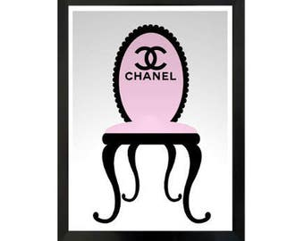Impression style design Chanel >Pink and black, cosy > Chanel Art > Decor Chanel > Chanel logo >2 dimensions - 4 fichiers - téléchargement